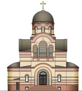 Князь-Владимирский храм. Эскиз