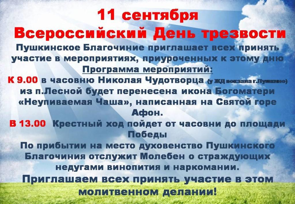 День трезвости в Пушкино